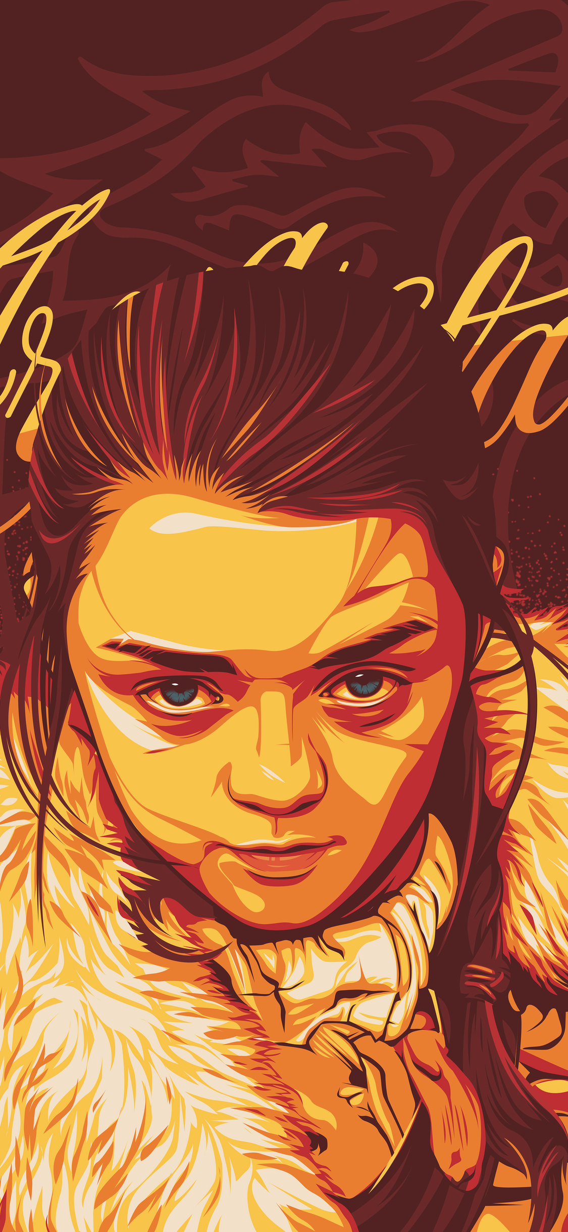 arya-stark-digital-art-z7-1125x2436 iPhone game of thrones wallpaper