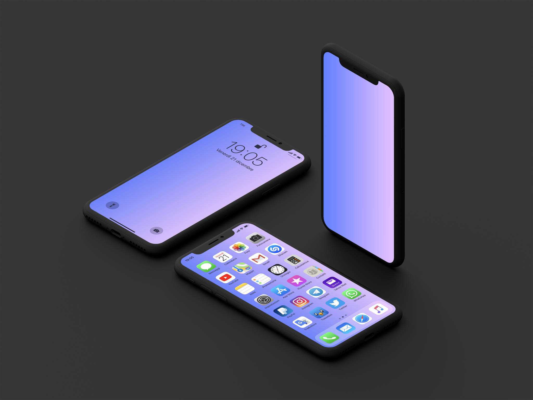 iphone wallpaper gradient AR72014 mock up