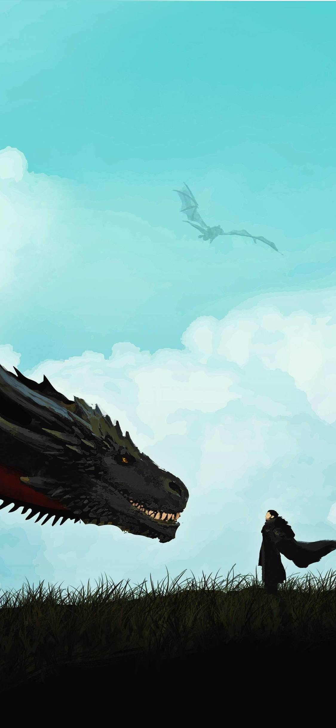 jon snow and khalessi dragon iPhone game of thrones wallpaper - Tổng hợp ảnh nền Game of Thrones đẹp nhất cho iPhone