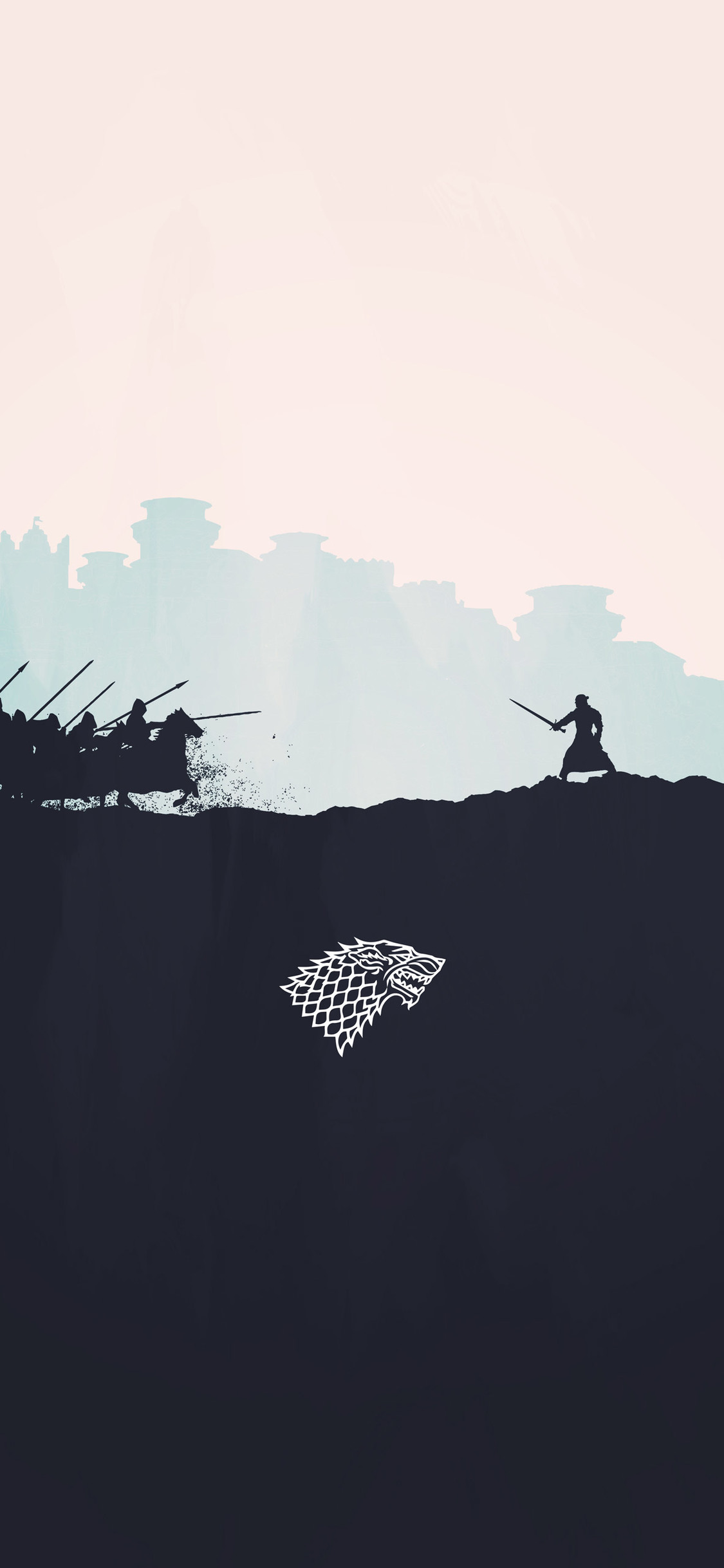 jon snow minimalism iPhone game of thrones wallpaper - Tổng hợp ảnh nền Game of Thrones đẹp nhất cho iPhone