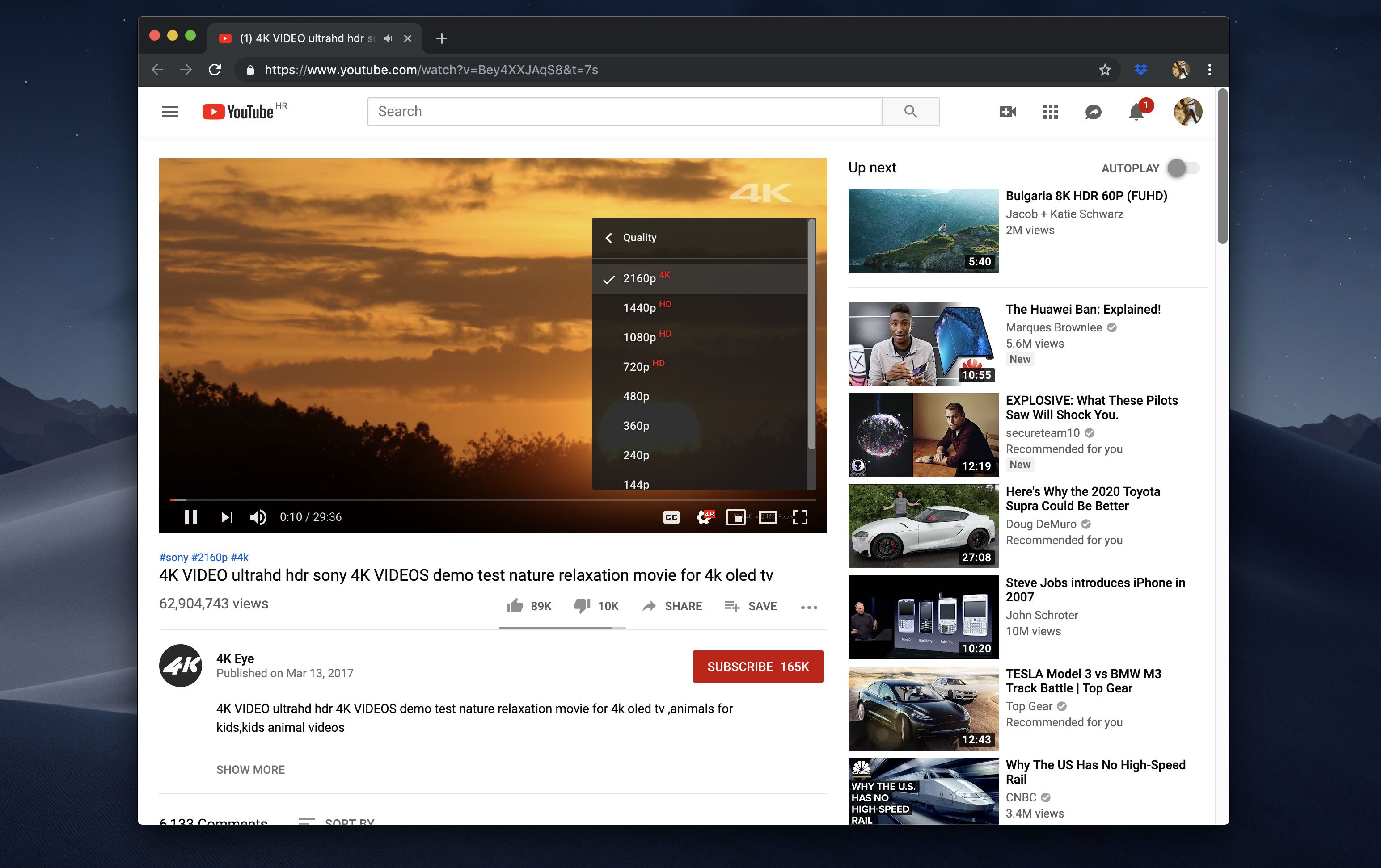 This Safari extension helps you identify and watch 4K YouTube videos