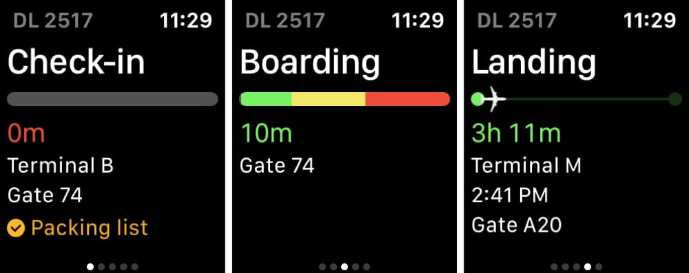 App in the Air on Apple Watch