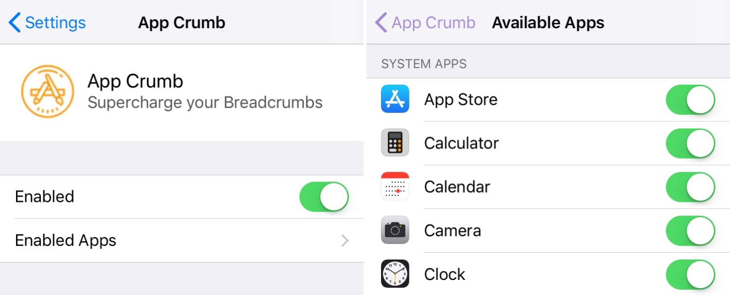 AppCrumb replaces iOS' Breadcrumb links with something better