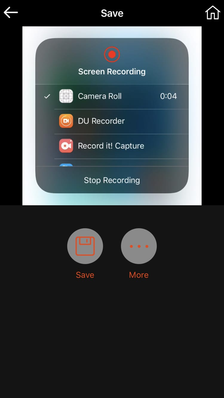Cropped Video Crop App Share on iPhone