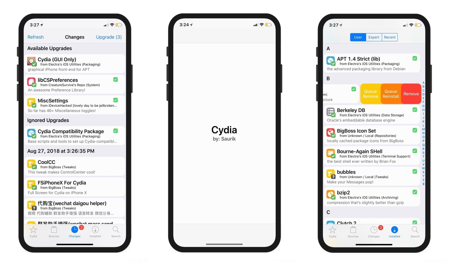 Modernize the Cydia app's user interface a bit with cyder