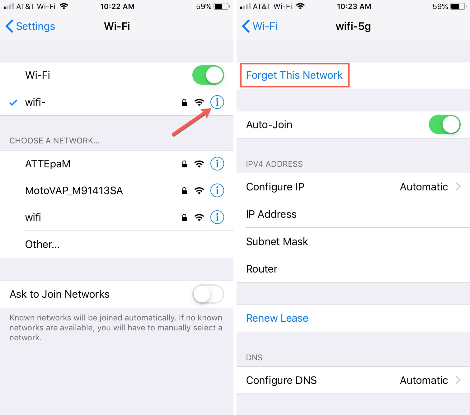How to forget a Wi-Fi network on iPhone, iPad and Mac
