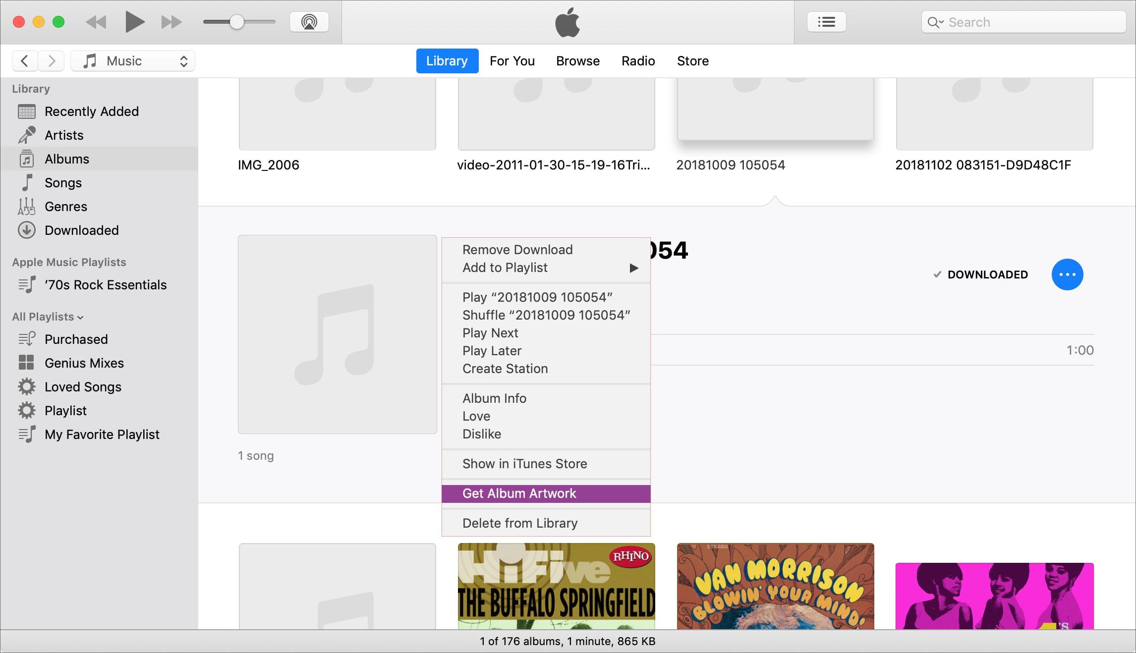 Get Album Artwork iTunes on Mac
