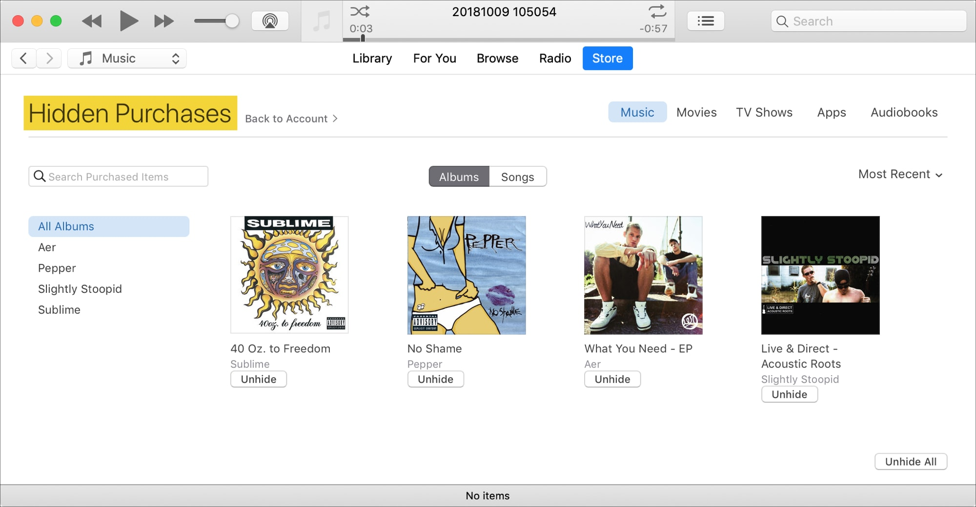 How to hide and unhide iTunes purchases