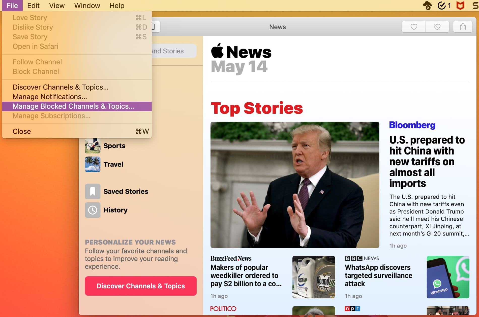 How to block a news source in Apple News on iPhone, iPad and Mac