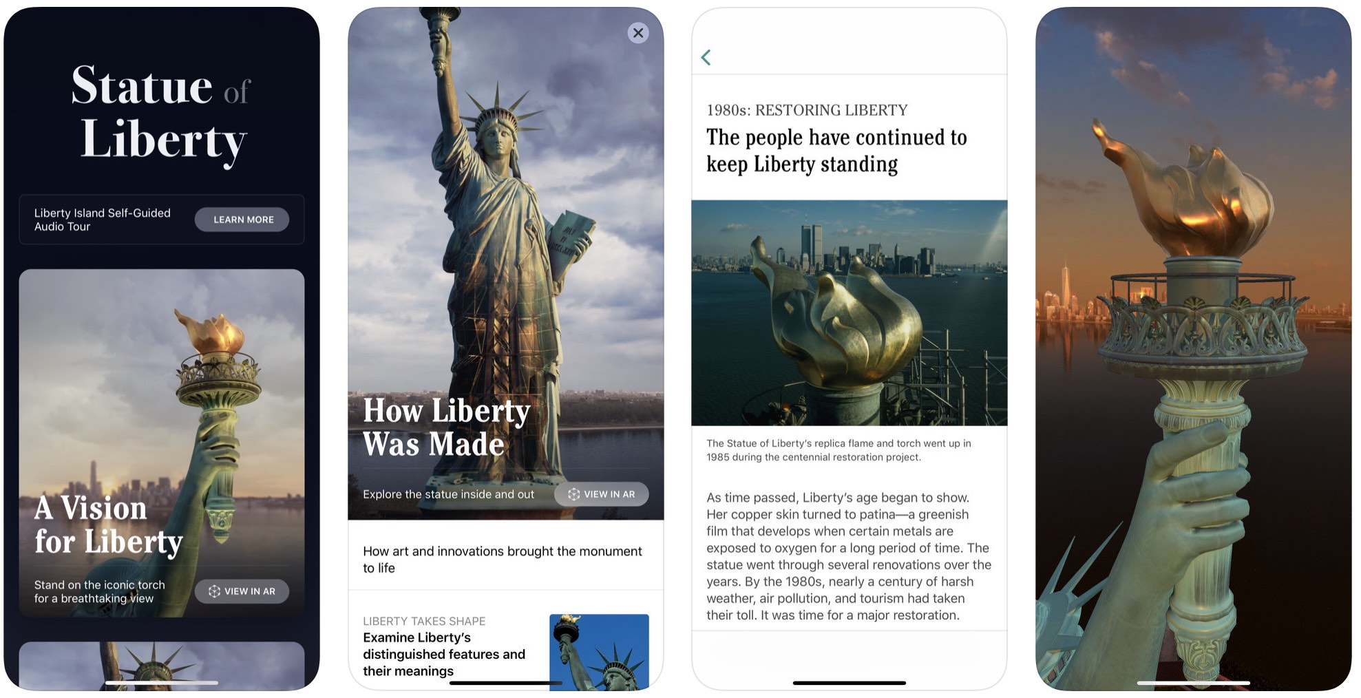 The Statue of Liberty app lets you explore Lady Liberty from all