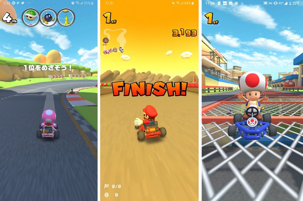 Mario Kart IOS gameplay