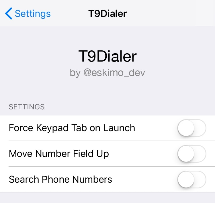 T9Dialer brings T9 dialing support to the iPhone's native Phone app