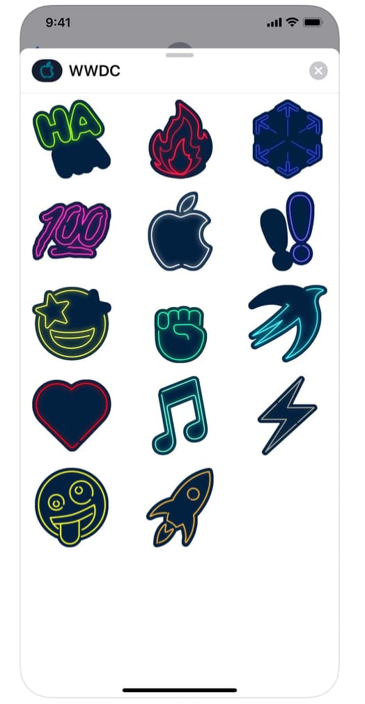 WWDC iOS app now with iMessage stickers