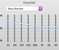 iTunes Equalizer on Mac