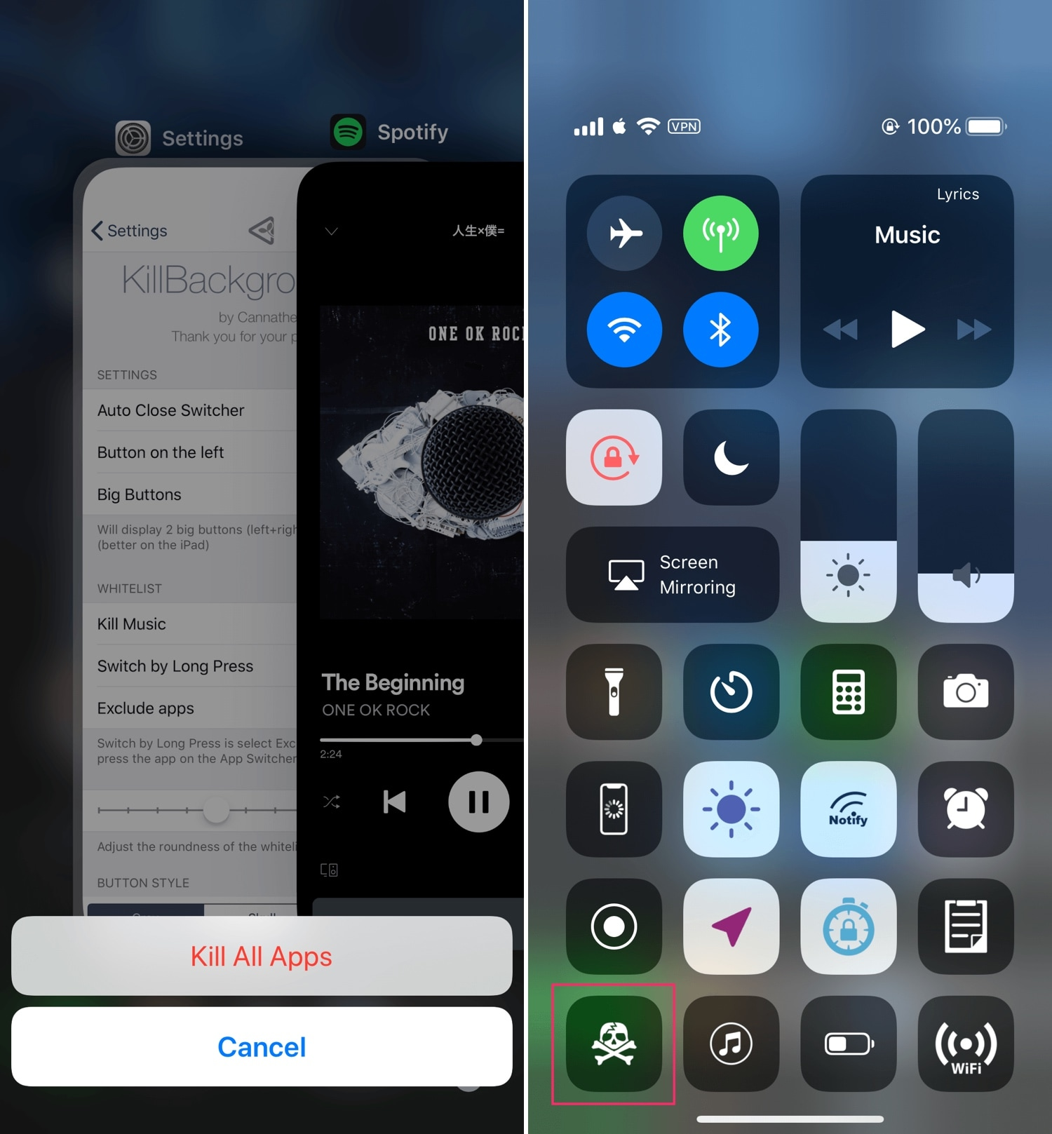 KillBackgroundXS lets you force-quit all App Switcher apps