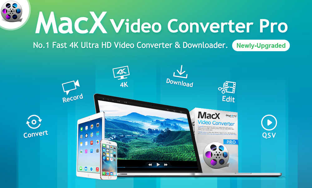 MacX Video Converter Pro lets you convert any video type to