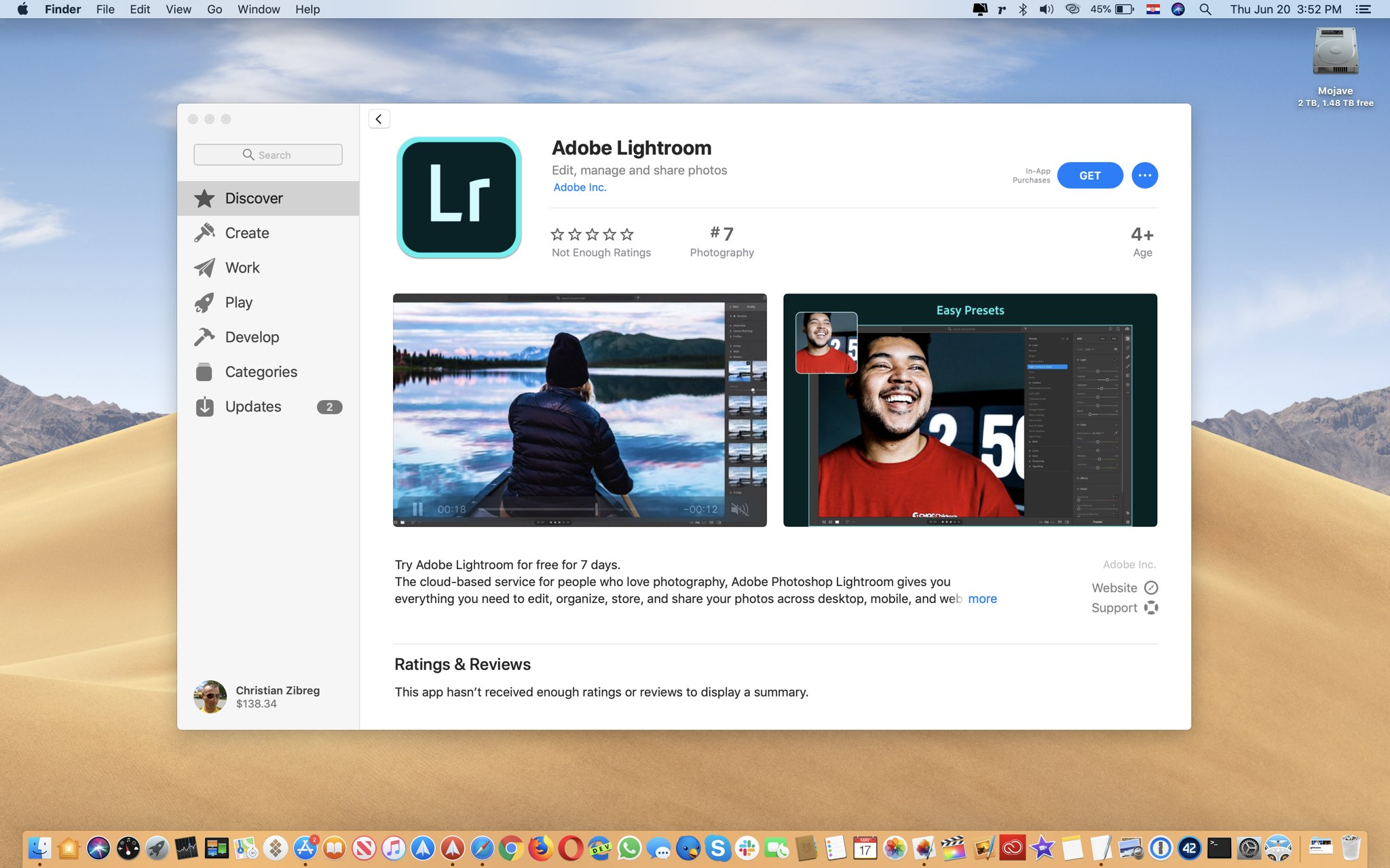 Adobe Lightroom is now available in Mac App Store