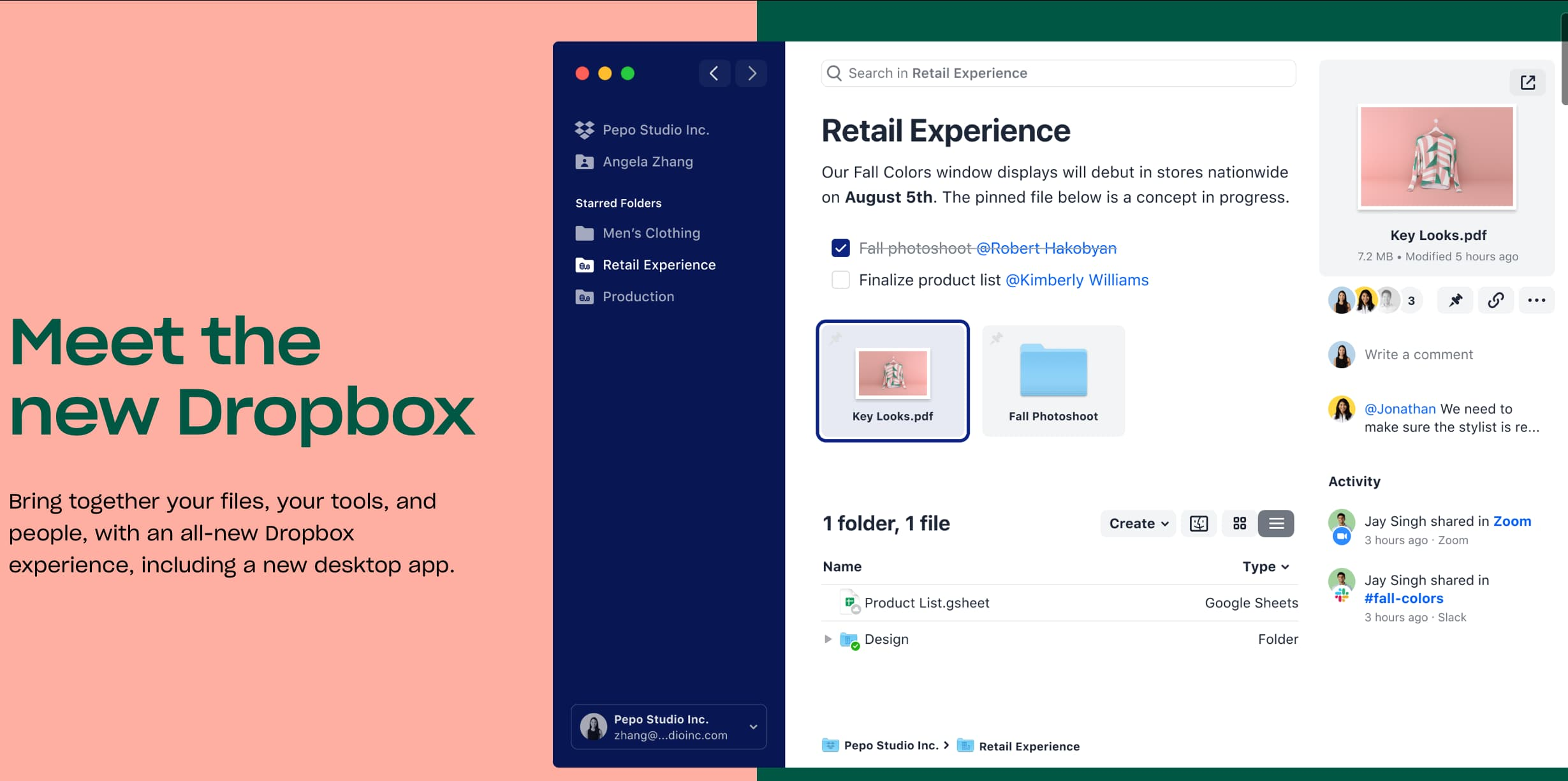 Dropbox unveils its new desktop app