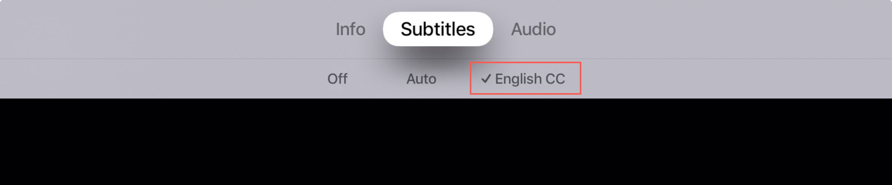Enable Subtitles on Apple TV Show
