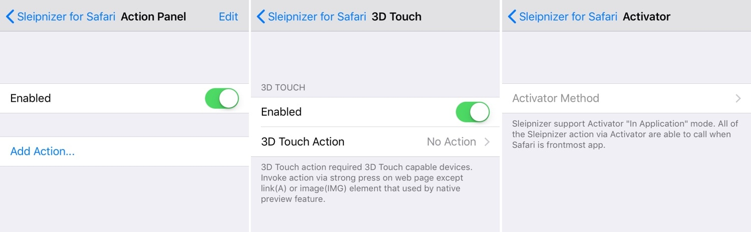 This tweak augments Safari on iOS with new gestures and features