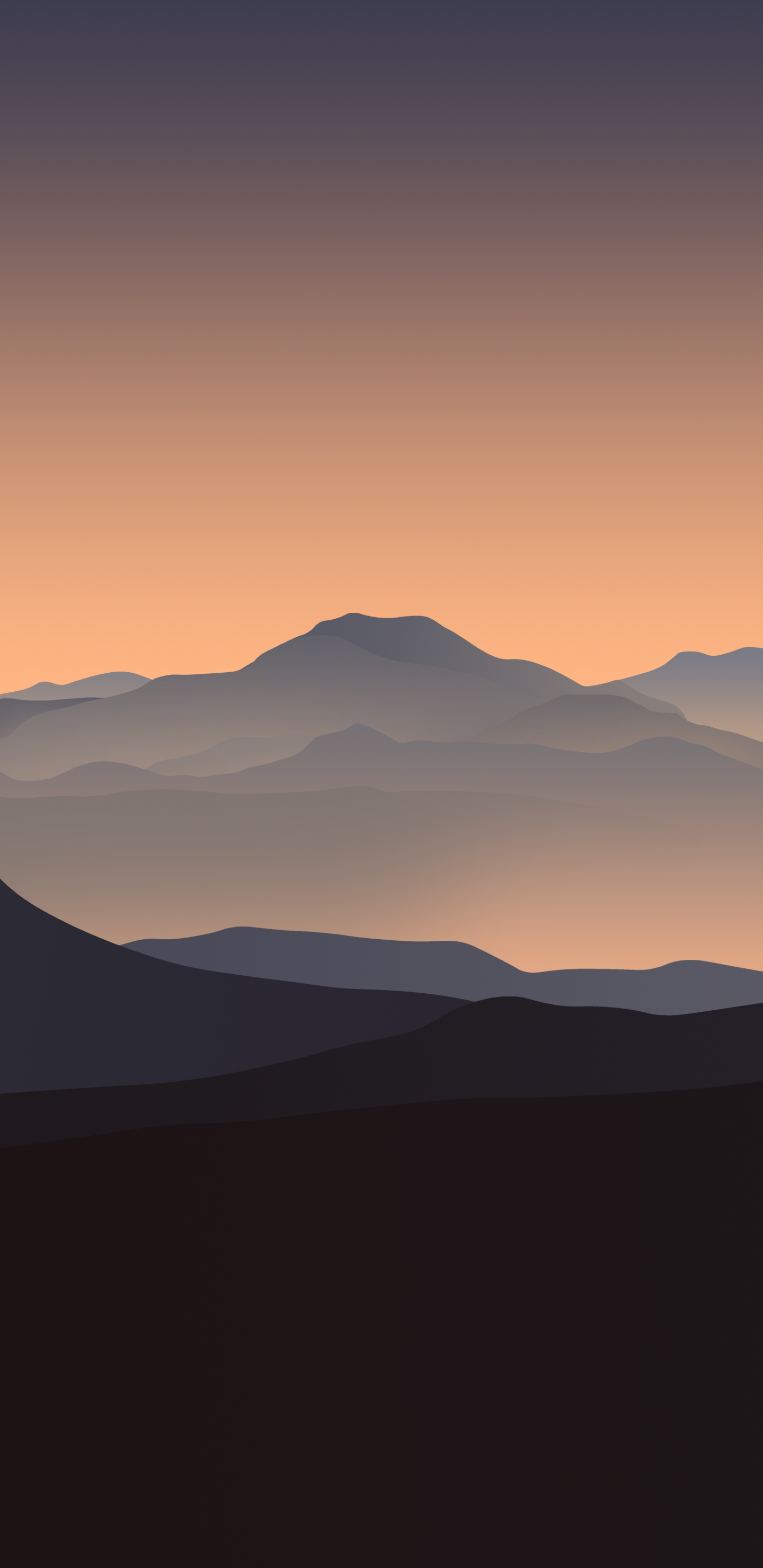 V4ByArthur1992aS iphone mountain wallpaper sunset orange