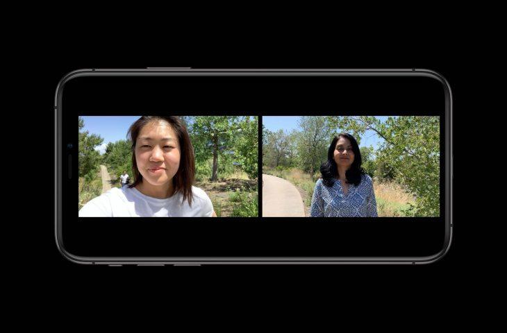 iOS 13 permet aux applications de prendre simultanément des photos, des vidéos, de l'audio et de la profondeur à partir de plusieurs micros et amp; appareils photo 1