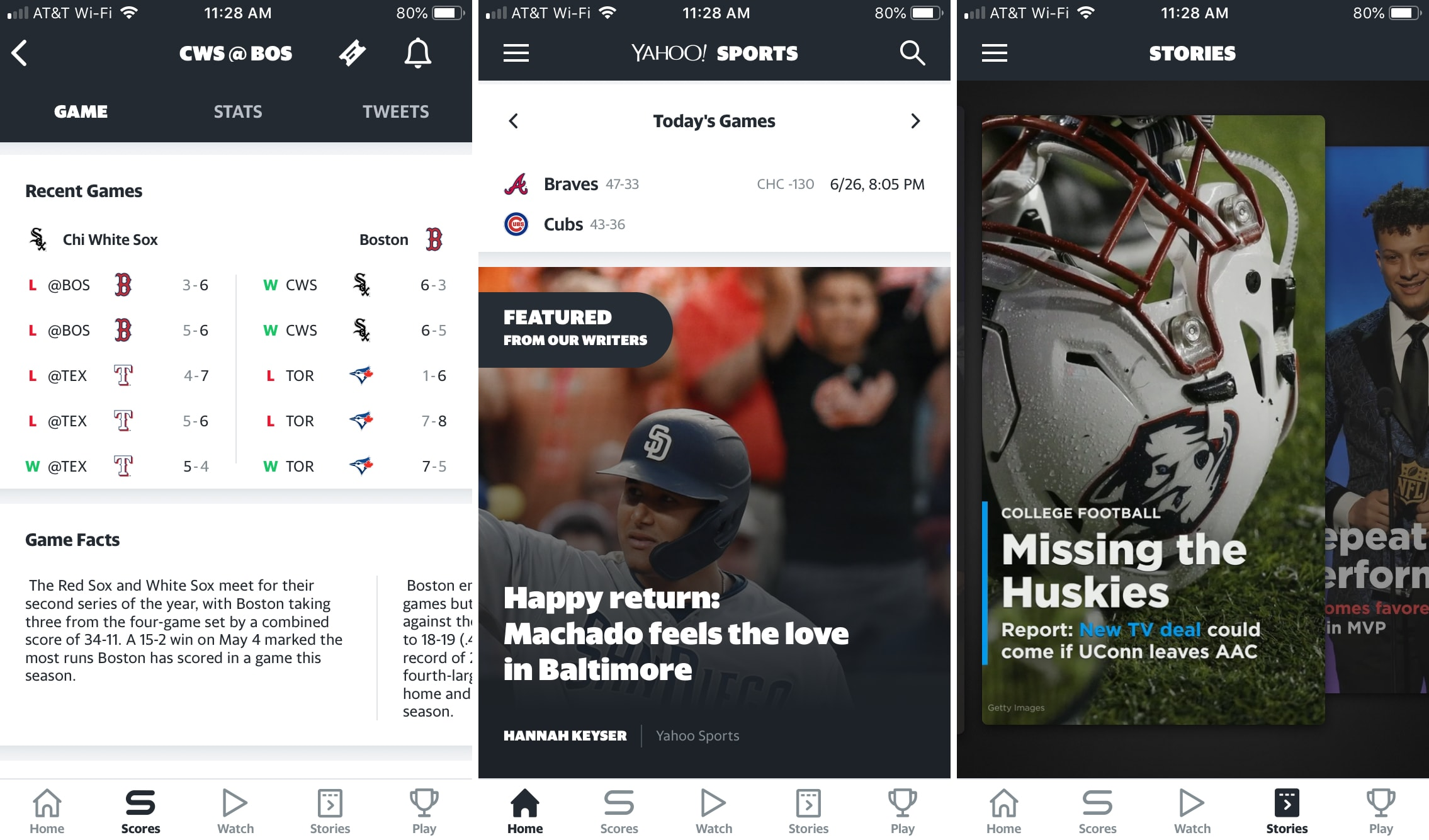 Yahoo Sports Scores Stories iPhone