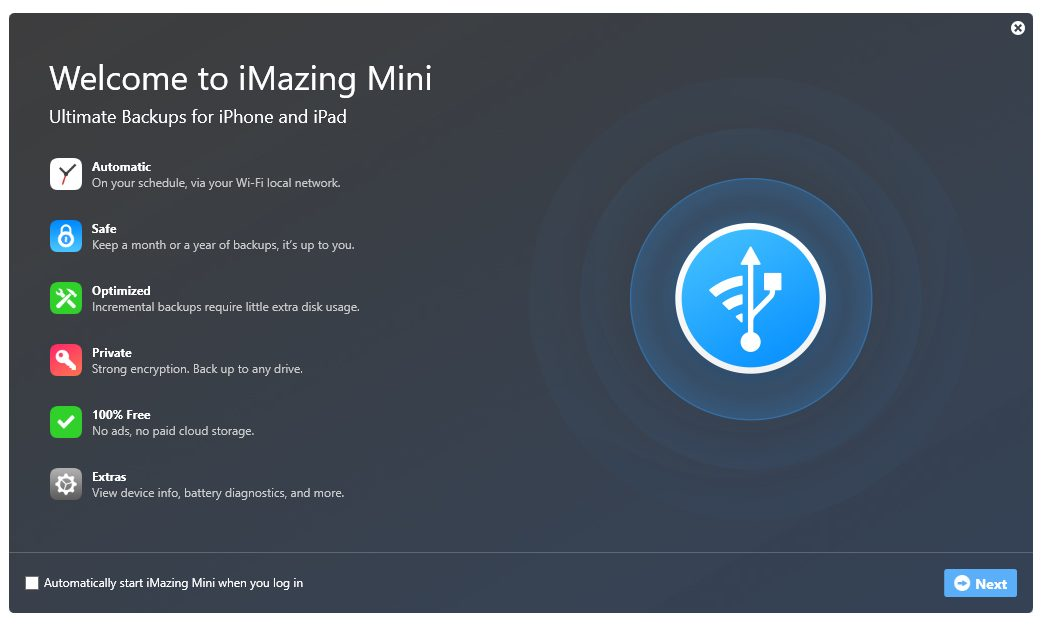 The powerful iOS backup tool iMazing Mini is now also available on