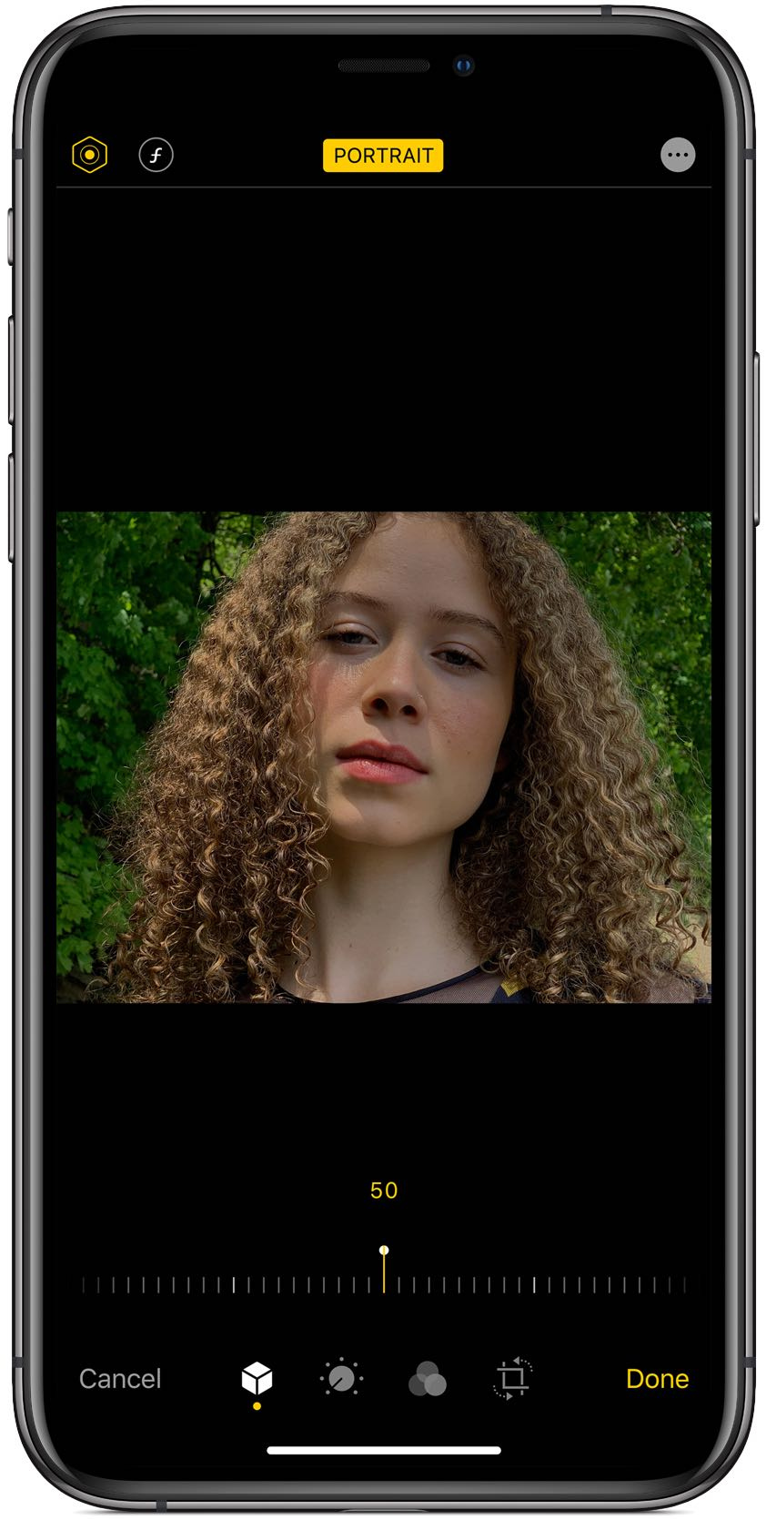 Portrait Lighting intensity can be adjusted in the Camera and Photos apps on iOS 13.