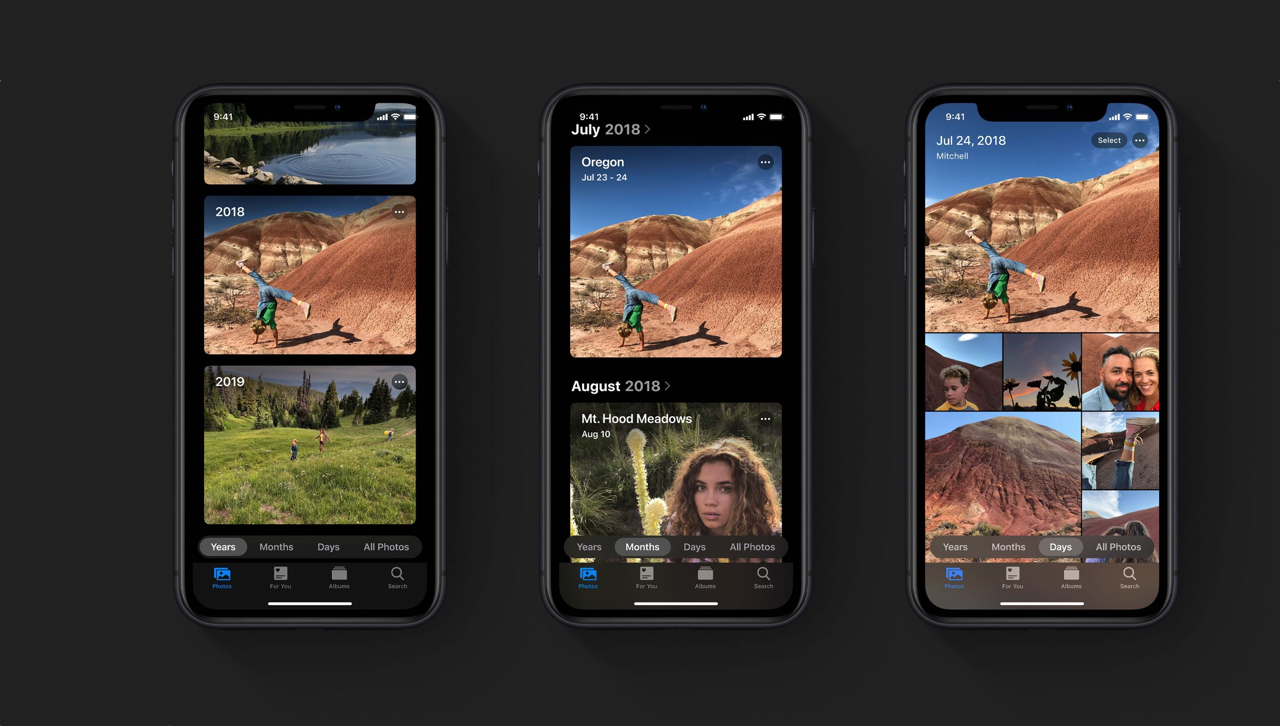 Dark Mode in the Photos app on iOS 13