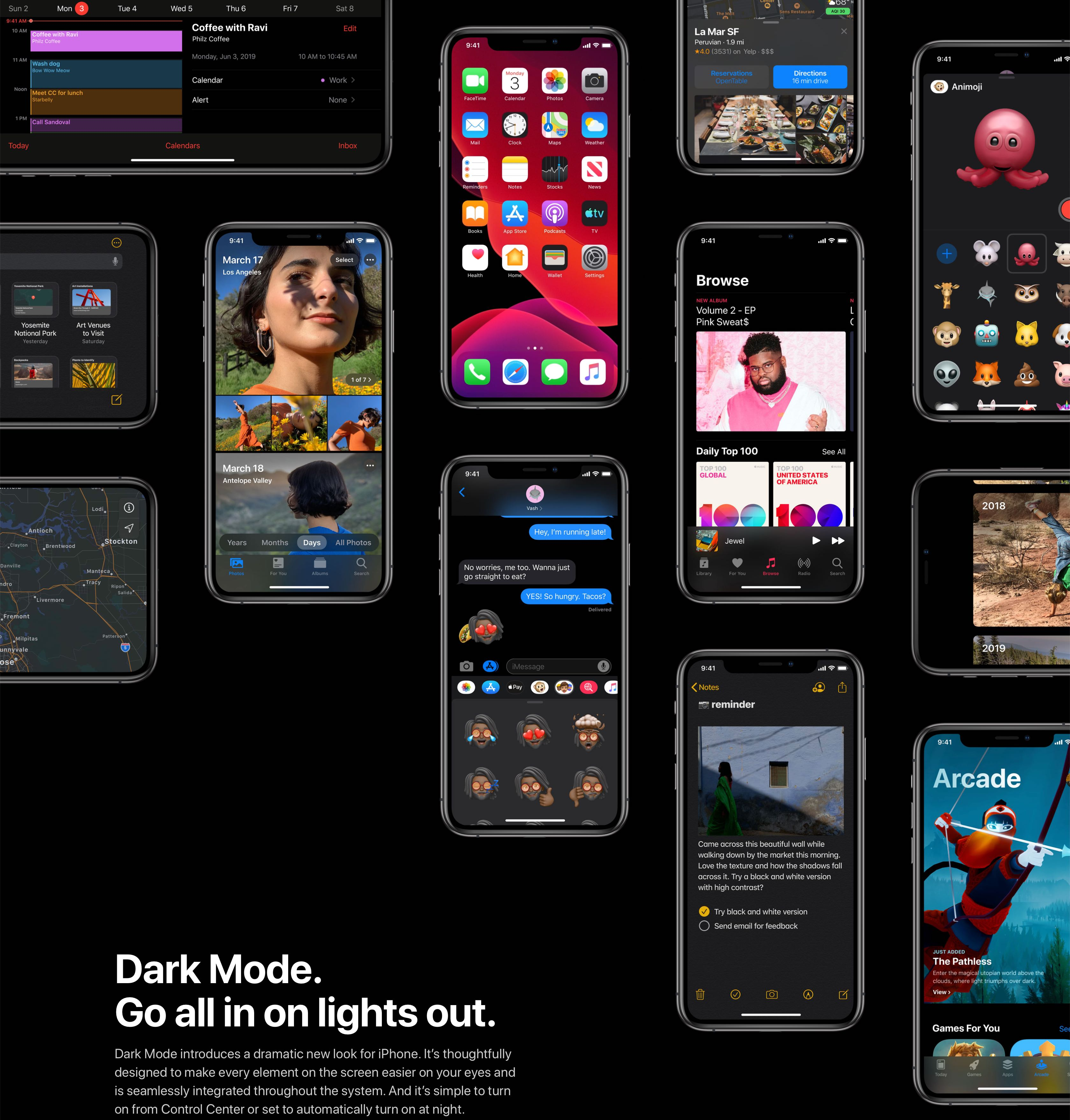 iOS 13's system-wide Dark Mode brings a quick Control Center