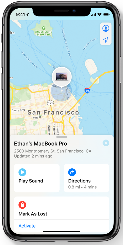 Using the new Find My app in iOS 13