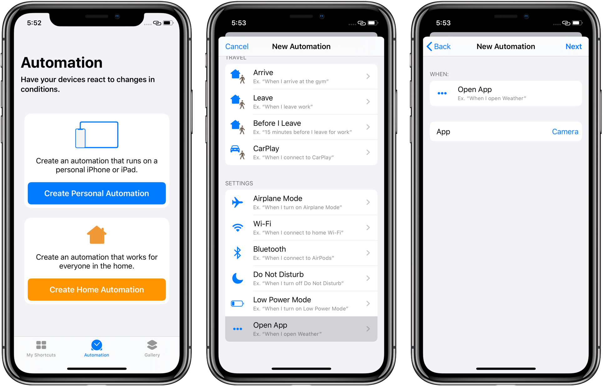 How to assign your favorite apps or custom automation shortcuts to
