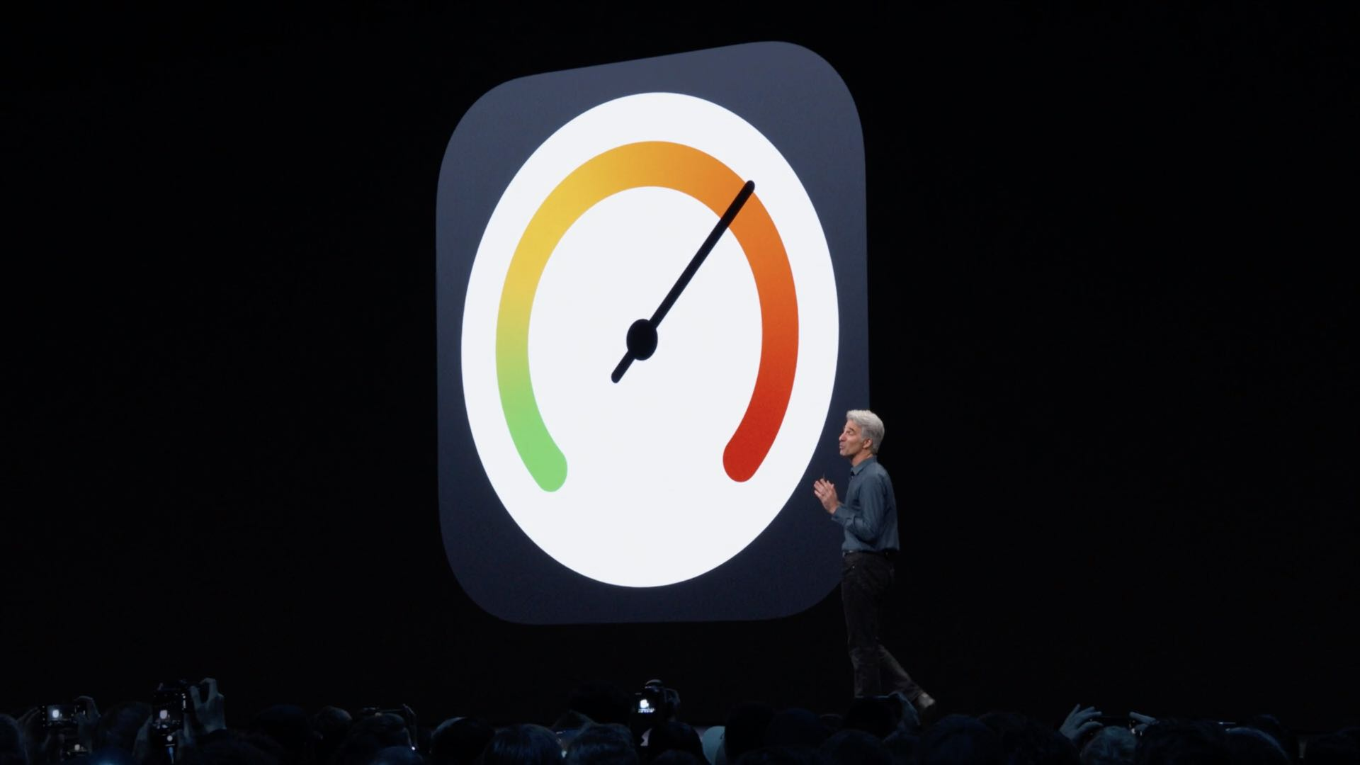 WWDC 2019 slide: iOS 13 speed gains