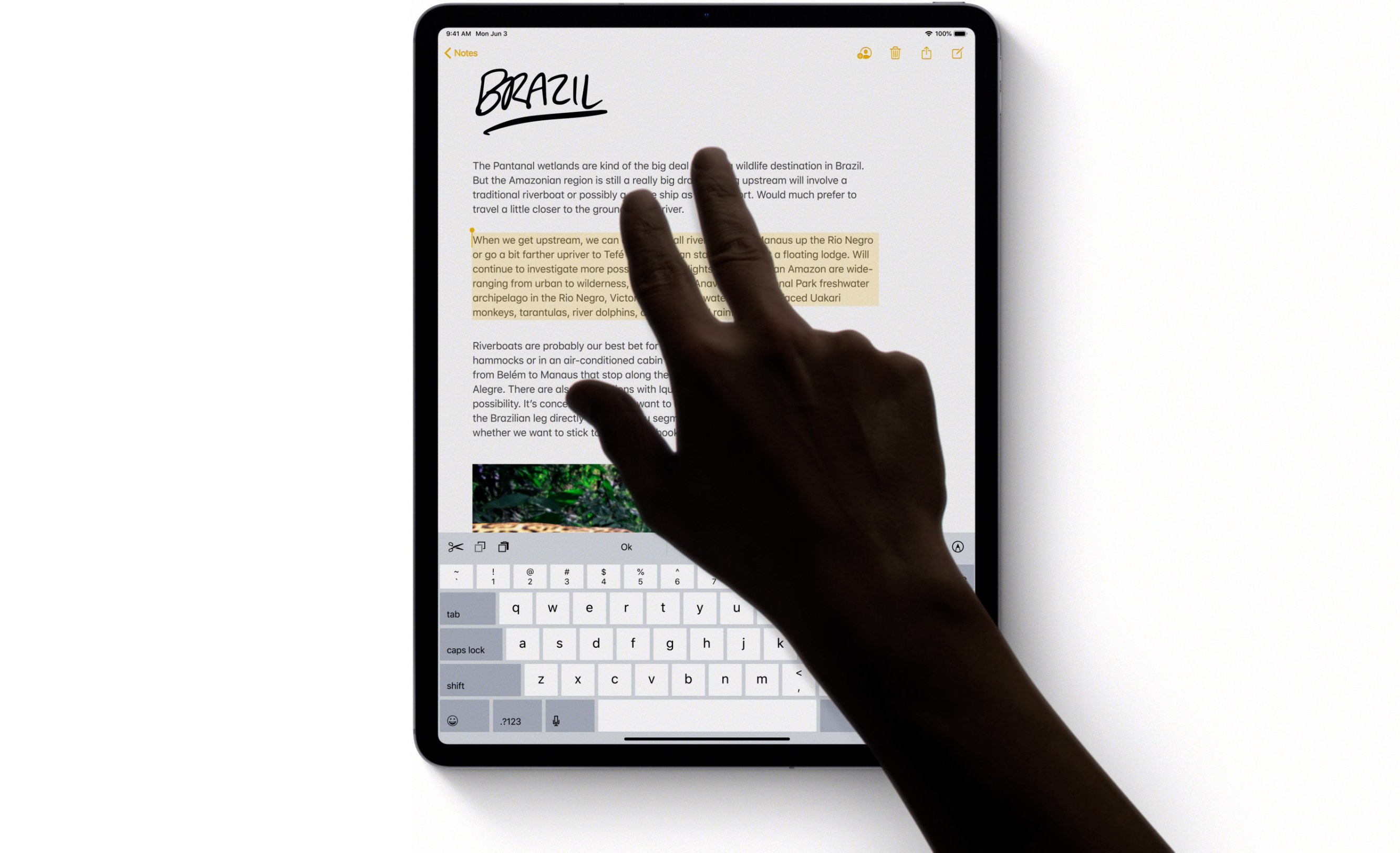 iOS 13 brings new gestures for cursor navigation, text selections