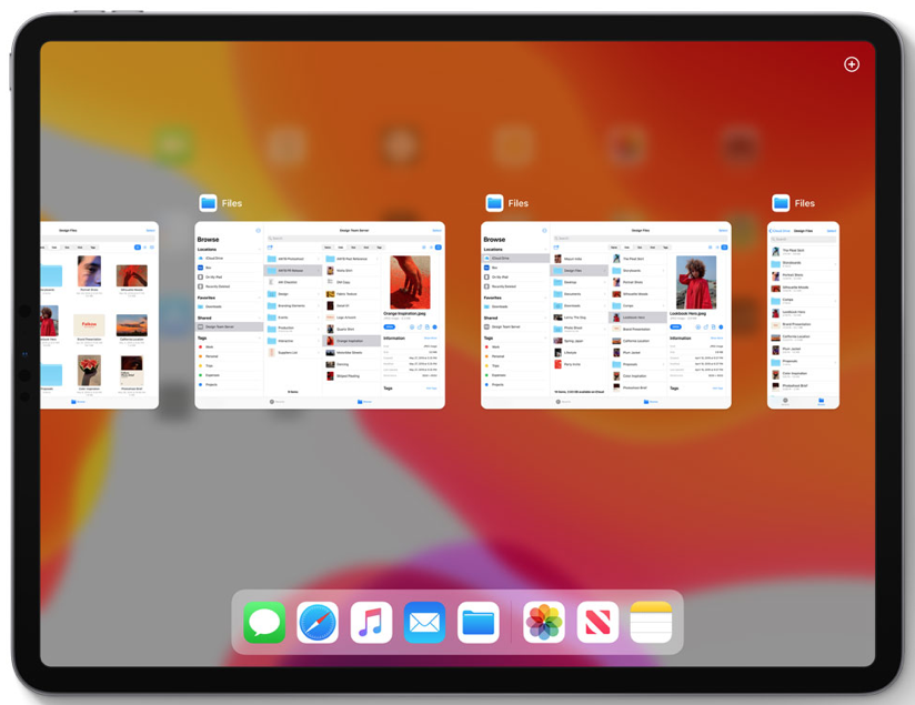 Switching apps is easy in iPadOS