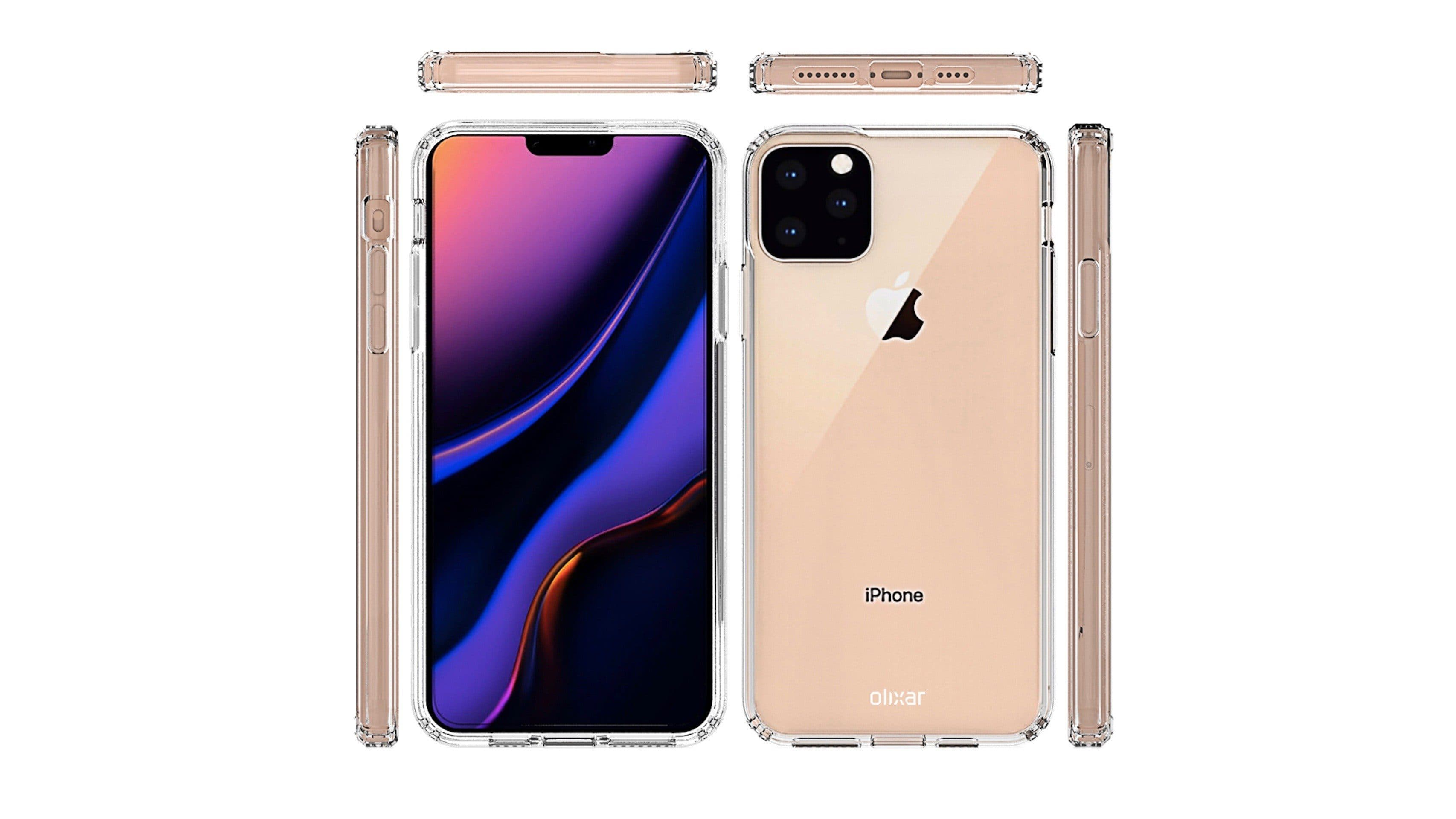Case renders of the rumored iPhone 11 offer limited details
