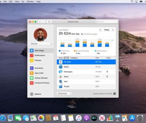 Screen Time is coming to macOS Catalina