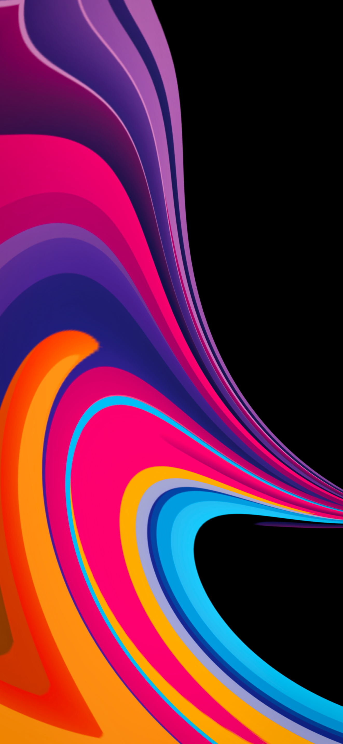 multi color abstract swirl IPHONE X, XR, XS, XS MAX, 1PLUS 6T - V109 - JFL