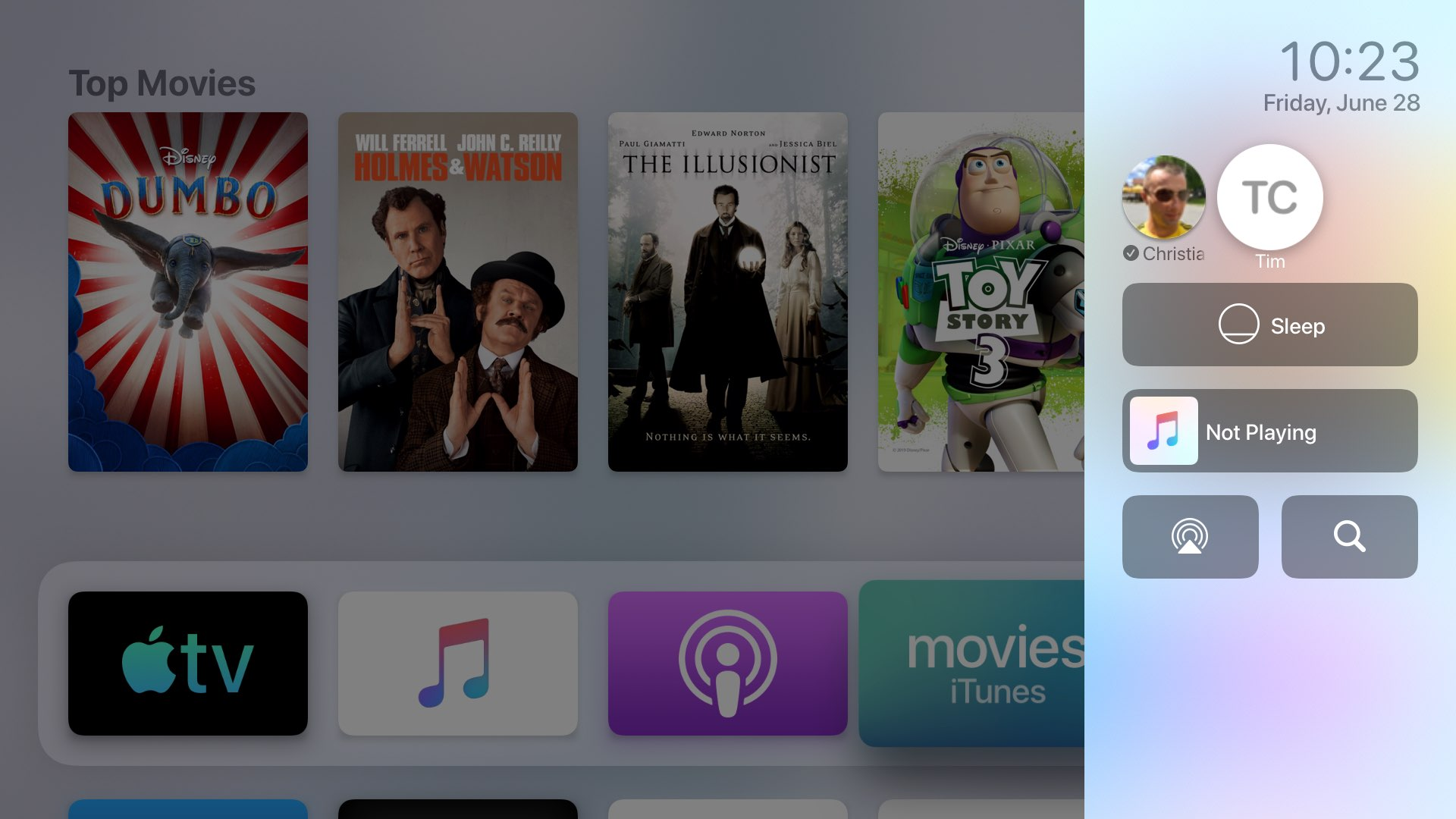 Control Center Apple TV
