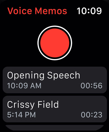 Voice Memos app for watchOS 6