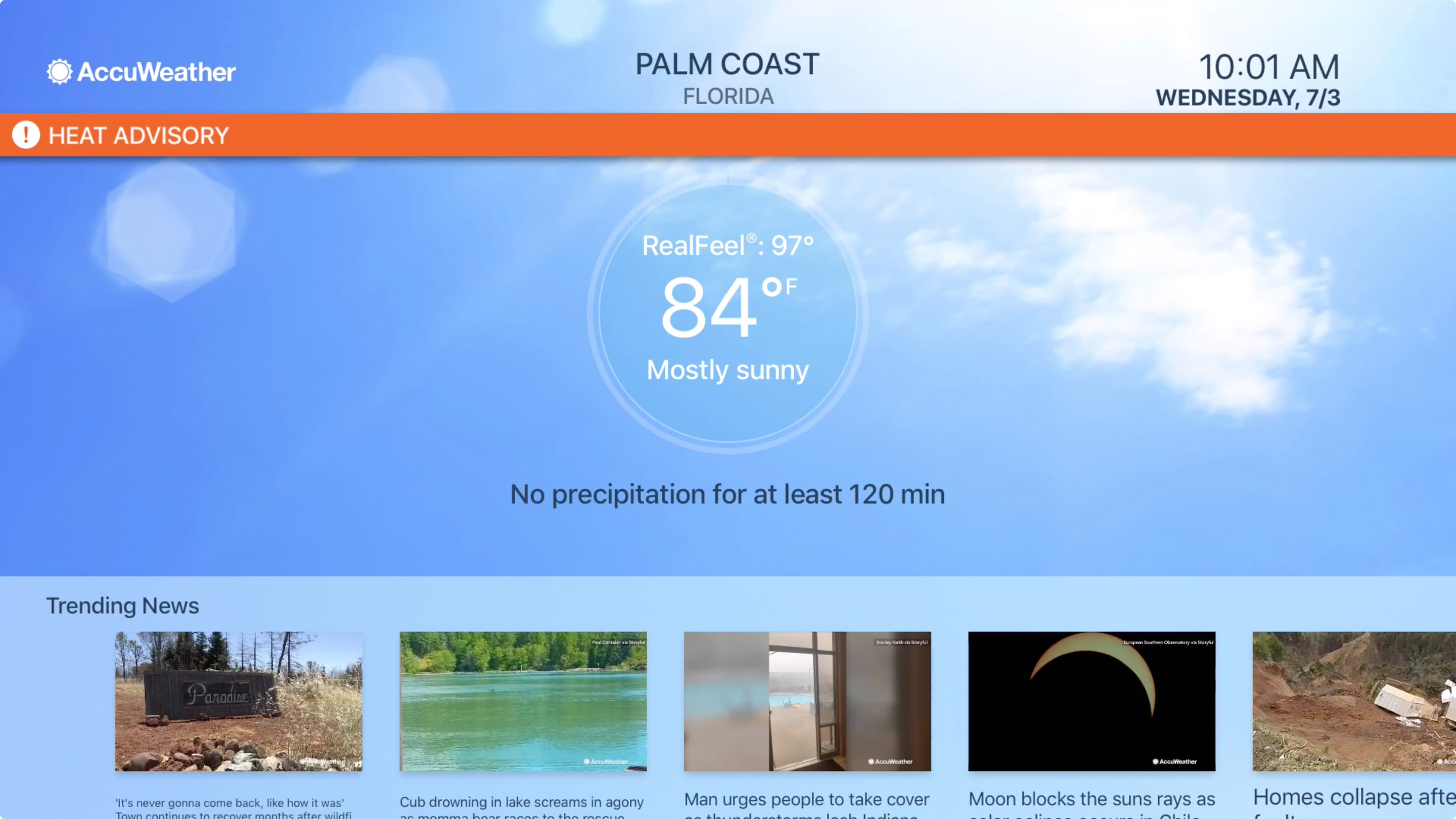 AccuWeather on Apple TV