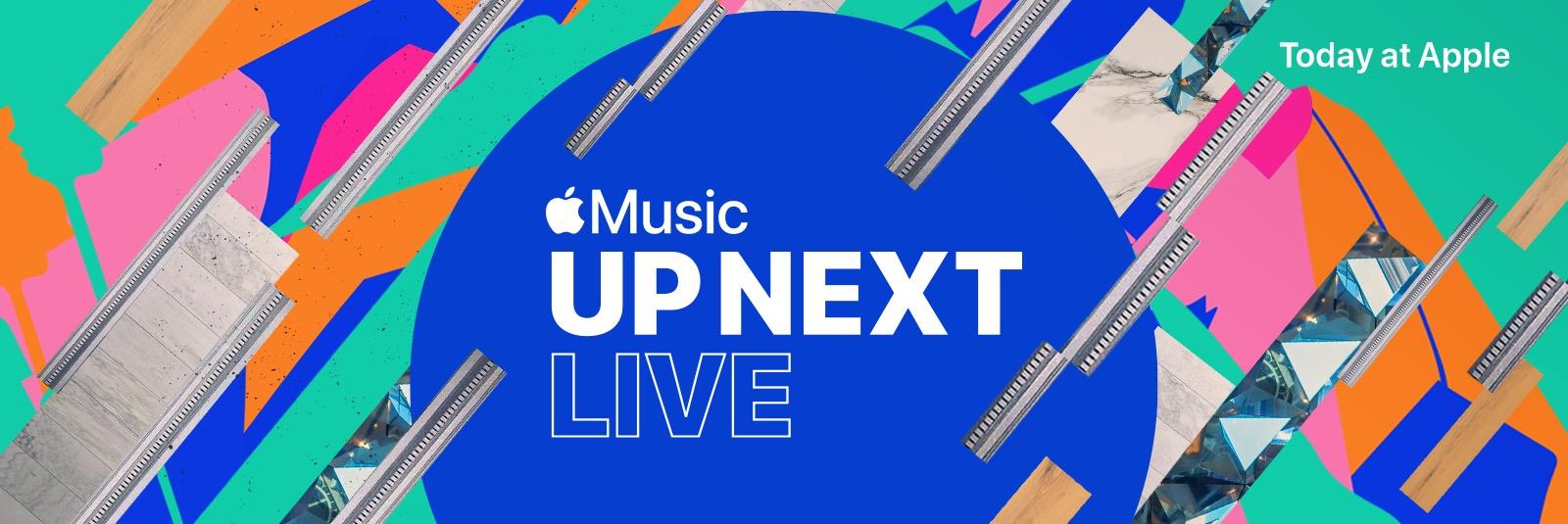 Apple's Up Next Live concert banner