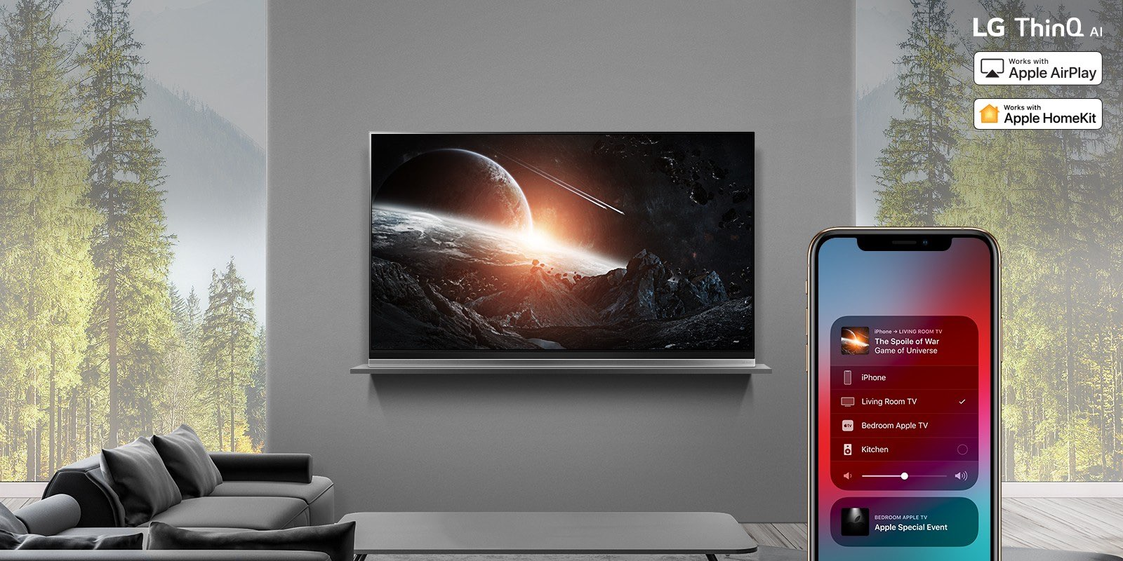 LG says AirPlay 2 and HomeKit support for its Smart TVs is starting