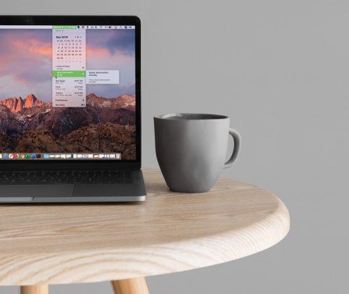 MacBook Screen with Dato App