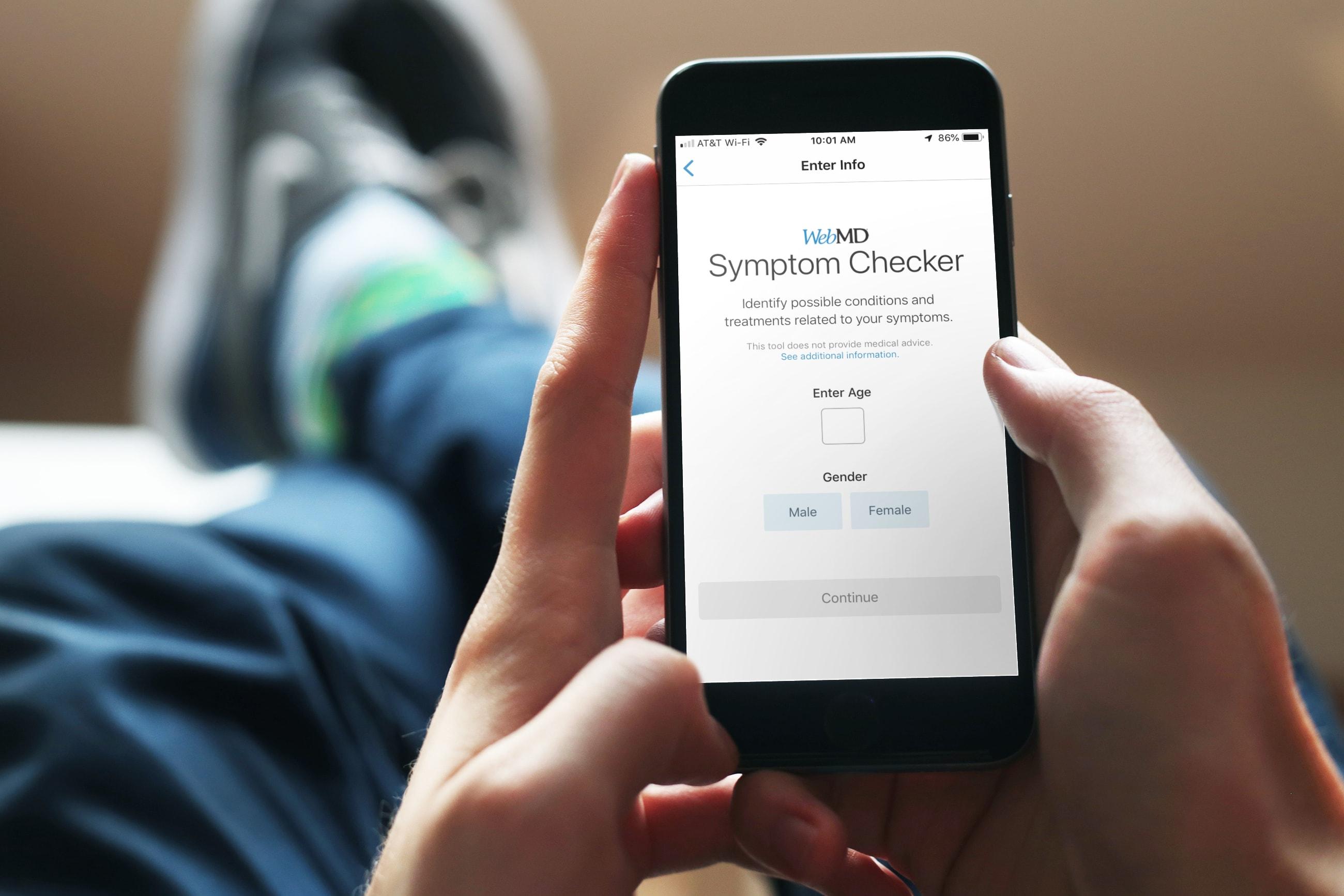 Aplicaciones de información médica iPhone - WebMD