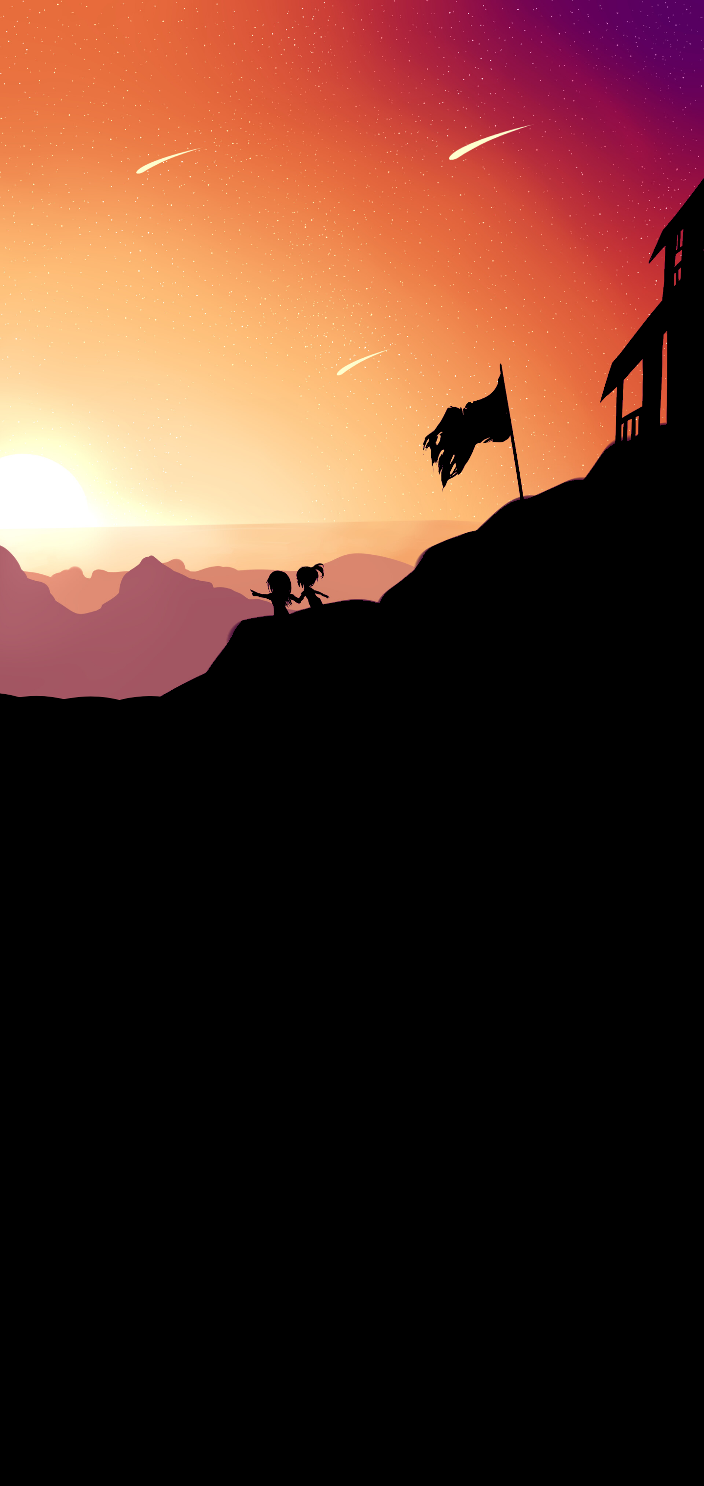 OLED wallpaper idownloadblog child mountain top