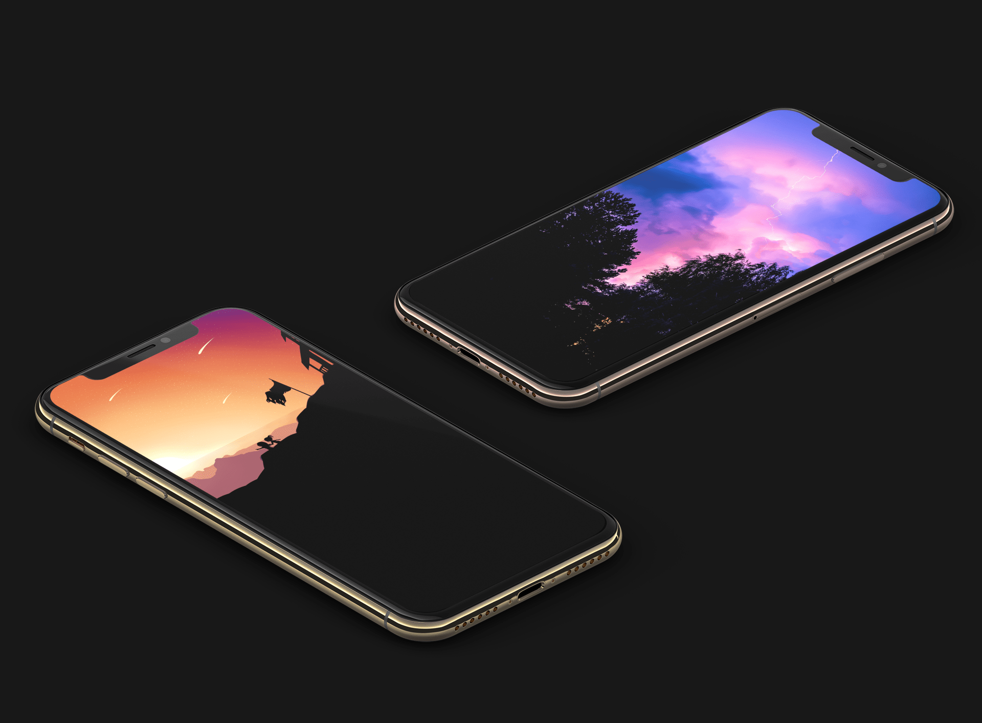 True Black And OLED-optimized Wallpapers For IPhone XS