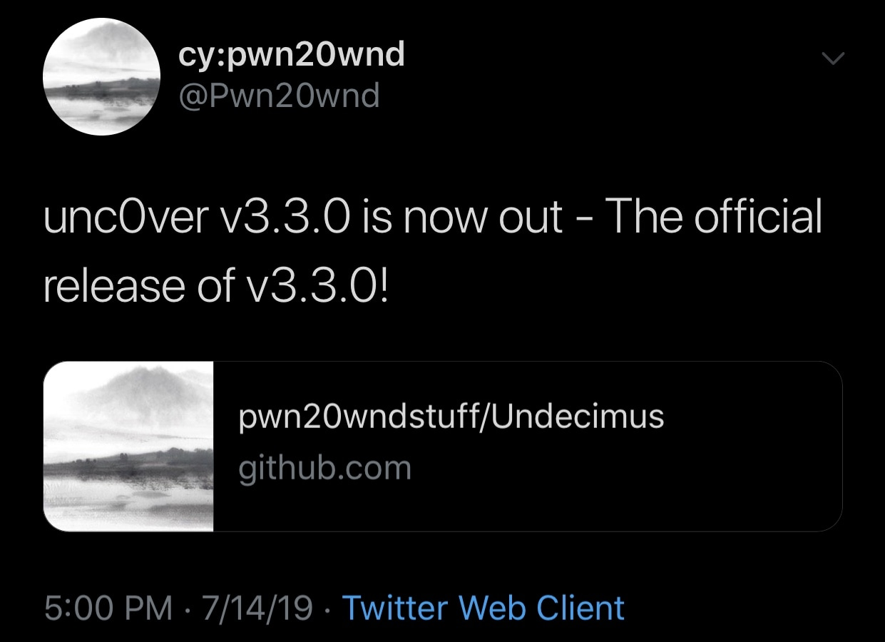 Unc0ver Jailbreak v3.3.0 Officially Released