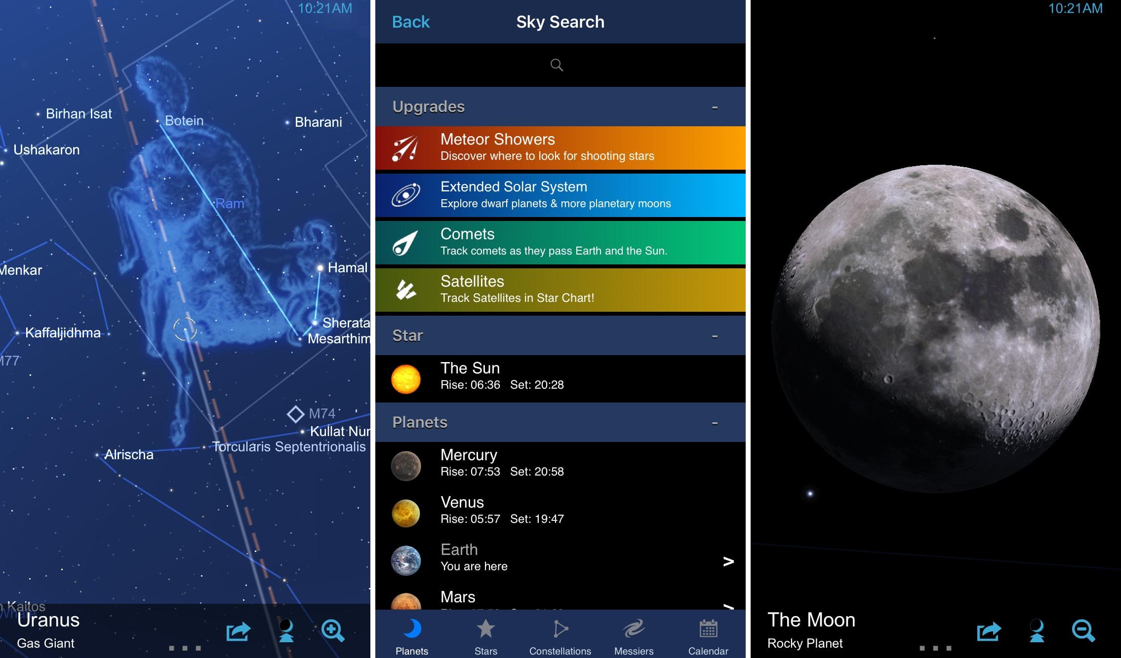 Sky Chart app on iPhone